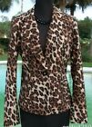 Cache Silk Congo Animal Print Lined Jacket Top New Size 2/4/6 XS/S $188 NWT