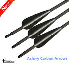 6Pcs Carbon Arrows Spine 400 Archery Arrows for Recurve Bow Screw in Tips