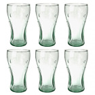 Lots OF Genuine Coca-Cola Green Glass Contour Glasses, 16 oz. New Free Shipping