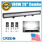 28'' 180W LED Spot Flood Light Bar Fits Roof Truck UTE Ram Tundra Sierra 20/37''