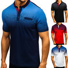 US Polo Shirt Mens Tee Top Short Sleeve Designer T Shirt Golf Plain Horse Sport image