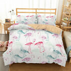 3D Green And Red Flamingo Quilt Cover Set Bedding Duvet Cover Pillow 9
