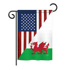 US Wales Friendship - Impressions Decorative Garden Flag - G158389-BO