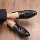 Mens Pointy Toe Tassel Shoes Slip on Round Toe Flats Loafers Non-slip Shop6