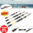 Portable Telescopic Fishing Rod Travel Spinning Pole Saltwater Casting Sea Rod