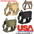 Military Tactical Training K9 Dog Harness Nylon Vest F pet Police Dogs Large M/L