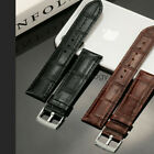 22mm 20mm Universal Quick Release Crocodile Pattern Leather Watch Band Strap image