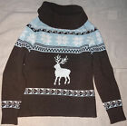 KJ CPM Collection Pullover Gr. S Wintermotiv gestrickt 40%Wolle Rollkragen getra