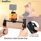 SMARTPHONE VIDEO RIG DUAL HANDHELD GRIP FOR IPHONE X 8 7 6S HUAWEI SAMSUNG D7O3