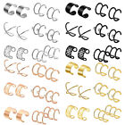 6 Pair Men Women Ear Cuff Wrap Earrings Set No Piercing Clip Cartilage Ear Clips