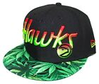 Atlanta Hawks Dro / Kush / Weed Brim 9FIFTY New Era SnapBack Black / Red / Lime