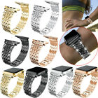 Bling Stainless Crystal Strap Bracelet Band For Apple Watch Series 5 4 3 2 1 image