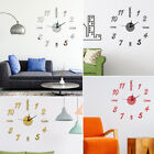 Modern 3D Wall Sticker Mirror Wall Clock Number DIY Decal Home Dining Room Decor