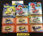 Hot Wheels - Various - Pick your CAR - Character Cars Sponge Bob,Mario,Minion