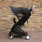 Anti-UV Sunshade Canopy Cover For Babyzen YOYO Baby Stroller Black Shade