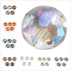 14mm 18mm Frosted Glass Bead Faceted Crystal Beads DIY Making Findings 10Pcs