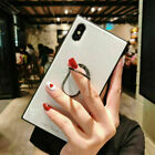 Luxury Square Mirror Tempered Glass Magnetic Bracket Case For 1Phone XS 6 7 8 TB