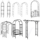 Garden Wedding Rose Arch Climbing Plant Flower Trellis Metal Pergola Patio Decor