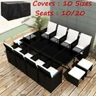 Luxury 12/10 Seater Rattan Garden Furniture Dining Set Lounger Table Or Covers