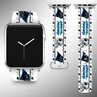Carolina Panthers Apple Watch Band 38 40 42 44 mm Fabric Leather Strap 1 on eBay