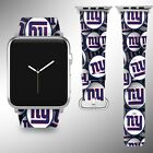 New York Giants Apple Watch Band 38 40 42 44 mm Fabric Leather Strap 1 on eBay