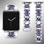 New York Giants Apple Watch Band 38 40 42 44 mm Fabric Leather Strap 2 on eBay