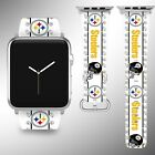 Pittsburgh Steelers Apple Watch Band 38 40 42 44 mm Fabric Leather Strap 2 on eBay