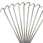 '9 Tent Pegs Steel Metal Ground Extra Long Camping Stakes Hooks Gazebo Tarpaulin