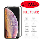 5 Pack FULL COVER Tempered Glass Screen Protector For iPhone 11 Pro XR XS MAX 7