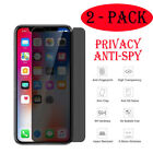 2 Packs Anti Spy Privacy Tempered Glass Screen Protector For iPhone 8 XR XS MAX