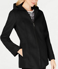 London Fog Hooded Coat - Black - Sizes UK XL
