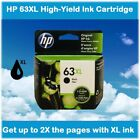 HP 63XL High Yield Single Ink Cartridge in Box (Black or Color), EXPIRE 2021