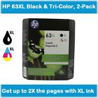 HP 63XL High Yield Single Ink Cartridge in Box (Black or Color), EXPIRE 2020  фото
