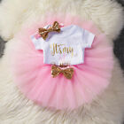 It's My First 1st Birthday Sets Baby Girl Tutu Cake Dress Outfit Party Clothes