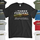 Military T-Shirt The Three Percent Willing to Take a Bullet For America image