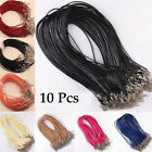 10 Pcs Lots Pu Leather Cord Chain Necklace With Lobster Clasp Jewelry Findings