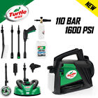Turtle Wax Car Pressure Washer Compact 1595 PSI/110 BAR Jet Wash Car & Patio