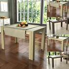 Medina Dining Table 4 6 Seater Rectangle Dining Room Kitchen Furniture Wood MDF