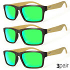 Kyпить 3 Pair Vintage Men Women Bamboo Sunglasses Polarized Wooden Temple Wood Greenish на еВаy.соm