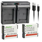 Kastar Battery Dual USB Charger for NP-130 & Casio Exilim EX-10 Exilim EX-100