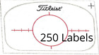 20-250 Multi Impact Golf Club Labels