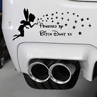 Powered By Bitch Dust Sticker Fit to Windows Cars Lap Top Etc Fairies & Angels