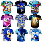 Kyпить Fashion Men/Womens Anime Sonic The Hedgehog 3D Print Casual T-Shirt Short Sleeve на еВаy.соm