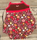 NEW GYMBOREE 2 3 TOD GIRL BROWN ORANGE WHITE PINK FLOWER 2 PIECE BEACH OUTFIT