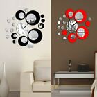 Circles Acrylic Art Sticker Home Decoration Mirror Style Modern Wall Clock Decor