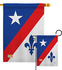 Franco American Fleur De Lys Iris New Orleans Quebec City Garden House Yard Flag