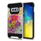 For Samsung Galaxy S10E 5.8 inch Hybrid Hard Rubber Silicone Brushed Case Cover