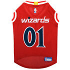 WASHINGTON WIZARDS NBA Licensed Pets First Dog Pet Mesh Red Jersey Sizes XS-L