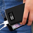 2USB 50000mAh Battery Backup Pack LCD Power Bank LED Portable Charger For Phone