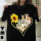 Sunflower Cat Lover You Are My Sunshine My Only Sunshine Ladies T-Shirt Cotton